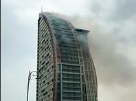 В столице Азербайджана  загорелась  высотка   Trump Tower (ВИДЕО)