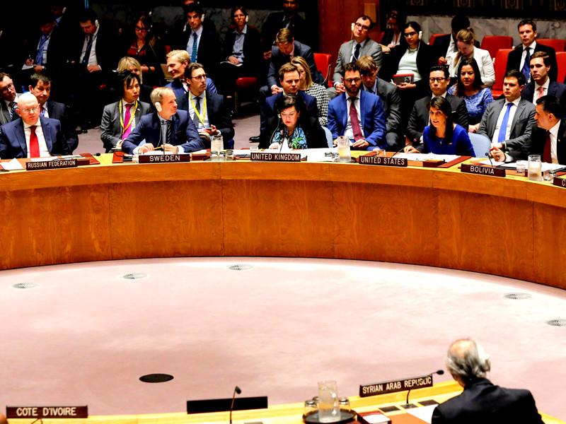 """Совбез ООН: Россия призывает к сдержанности, США заявляют о готовности к новым ударам"""" />"""