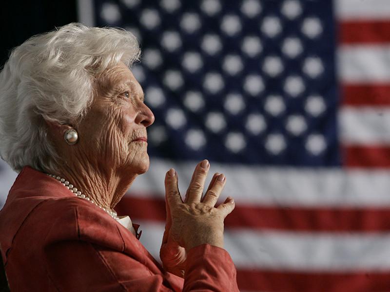 В возрасте 92 лет ушла из жизни бывшая первая леди страны, супруга Джорджа Буша-старшего и мать еще одного президента Джорджа Буша-младшего.