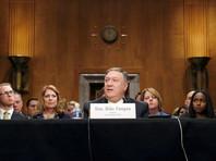 Майк Помпео на слушаниях в американском сенате, 12 апреля 2018 года