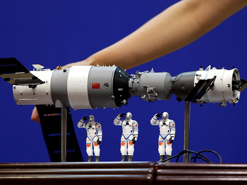 """Китайская орбитальная  станция """"Тяньгун-1"""" сгорела в атмосфере над Тихим океаном"""" />"""