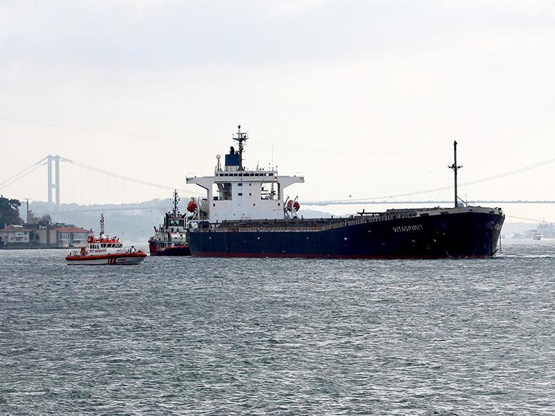 В Босфоре танкер с заклинившим рулем встал поперек пролива и врезался в исторический особняк на берегу