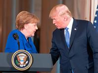 Трамп в ходе встречи с Меркель  попросил у нее совета по обращению  с Путиным