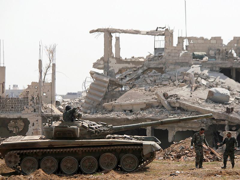 Международная коалиция во главе с Соединенными Штатами нанесла удары по правительственной армии Сирии