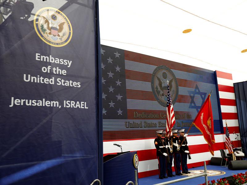 Торжественная церемония по случаю переноса посольства США из Тель-Авива в столицу Израиля