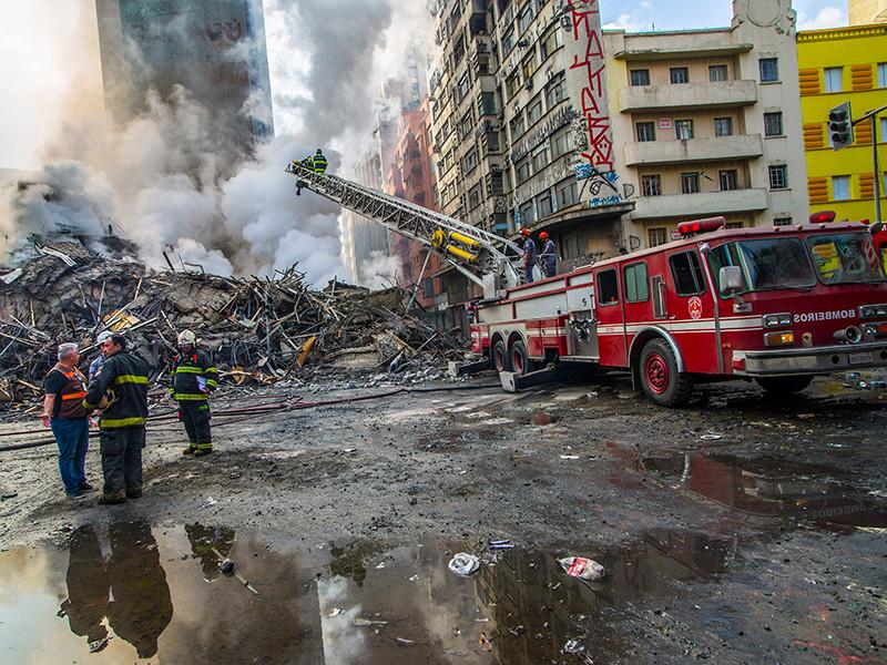 После пожара в высотке Сан-Паулу остается неизвестной судьба 34 человек