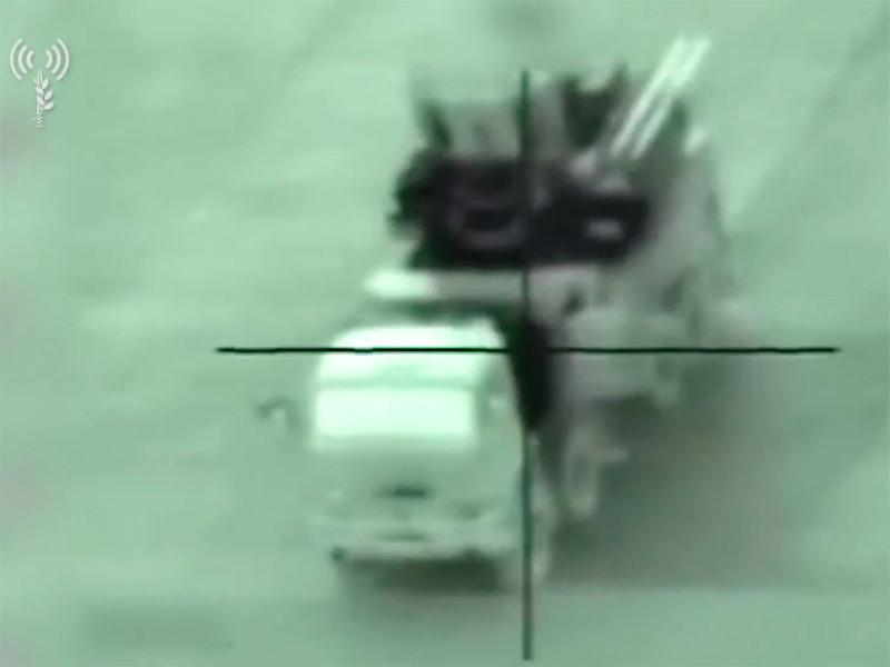 """Израиль обнародовал ВИДЕО уничтожения комплекса """"Панцирь-С1"""" в Сирии"""
