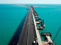 Строительство моста через Керченский пролив в Крыму, 26 апреля 2018 года