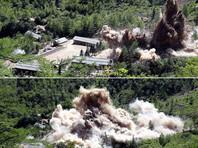 Опубликовано ВИДЕО взрывов, уничтоживших северокорейский полигон для испытания ядерного оружия