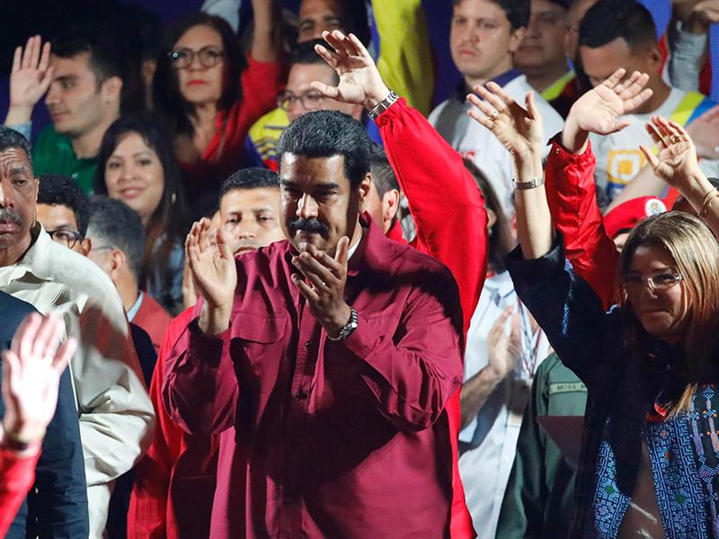 Действующий президент Венесуэлы Николас Мадуро побеждает на состоявшихся в воскресенье, 20 мая, выборах главы государства