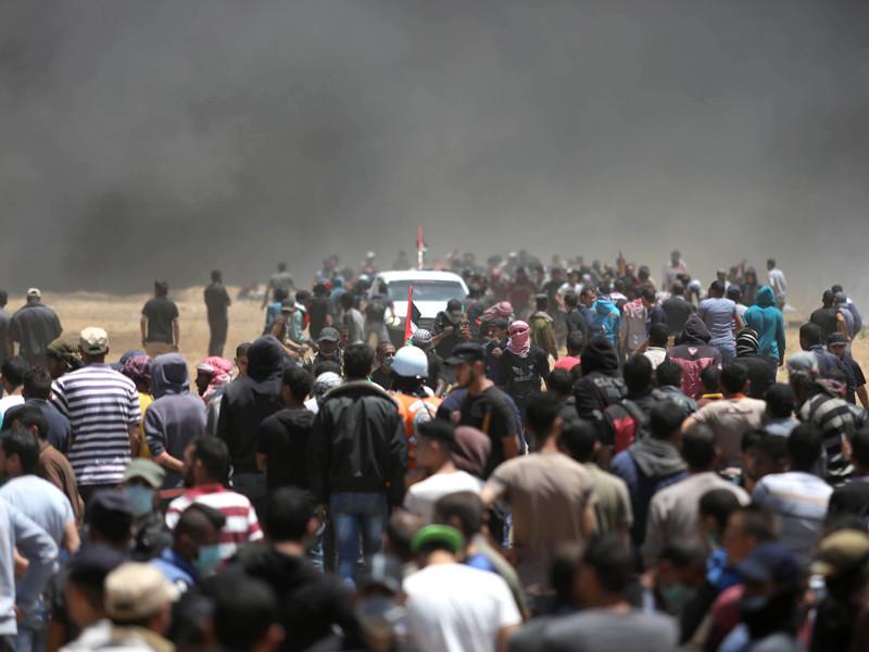 Граница сектора Газа и Израиля, 14 мая 2018 года