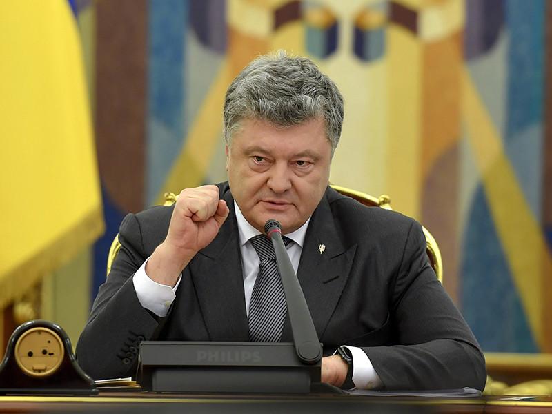 """По словам Порошенко, несмотря на тщетные попытки Москвы легитимизировать """"временную оккупацию Крымского полуострова"""", """"бремя совершенного международного преступления для России будет только расти"""""""