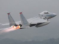 У берегов Японии разбился истребитель ВВС США F-15, пилот спасся