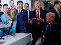 """CBS: в конце саммита G7  Трамп кинул Меркель две   любимые конфетки со словами   """"Не говори, что я ничего вам  не даю"""""""
