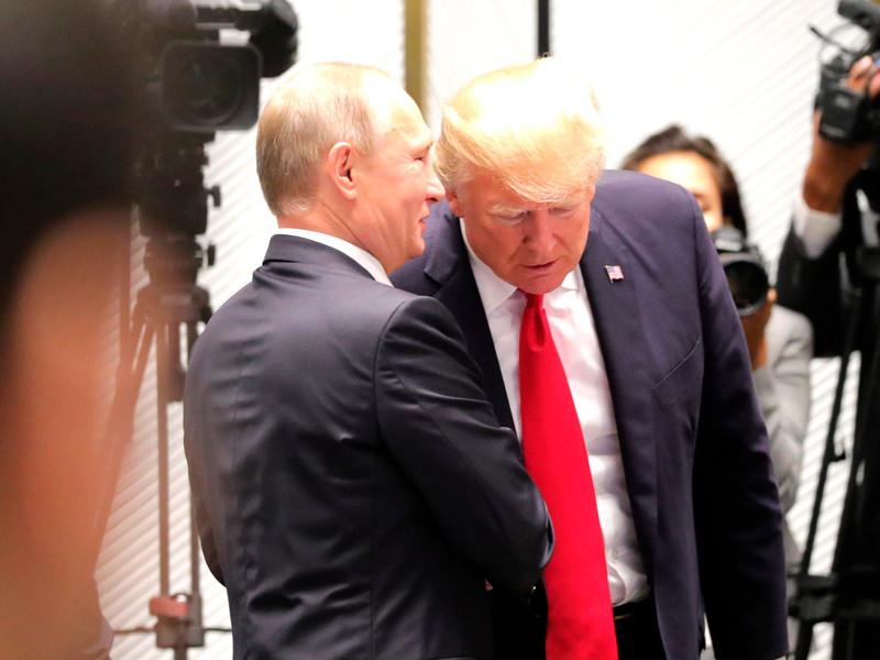 Владимир Путин и Дональд Трамп, ноябрь 2017 года