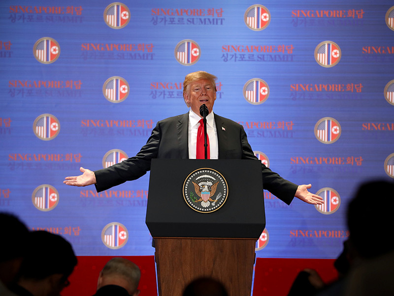"""Трамп вычеркнул КНДР из списка самых больших проблем США"""" />"""