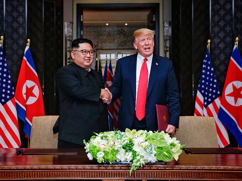 """Трамп и Ким Чен Ын приняли решение обменяться визитами, сообщили в Пхеньяне"""" />"""
