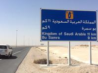 Катар, дорога к границе с Саудовской Аравии