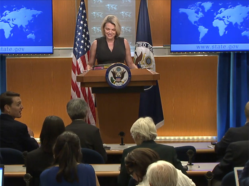 """Количество дипломатических сотрудников США, пострадавших от """"акустических атак"""" на Кубе, увеличилось еще на одного человека, заявила на брифинге в Вашингтоне в четверг, 21 июня, официальный представитель Госдепартамента Хизер Нойерт"""