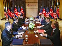 Президент Трамп обязался дать гарантии безопасности для КНДР, а председатель Ким Чен Ын подтвердил свою твердую и непоколебимую приверженность плану полной денуклеаризации Корейского полуострова