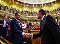 В Испании  после вотума недоверия ушло в отставку правительство. Новым  премьером стал генсек социалистов Педро Санчес