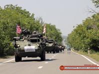 На учения в Грузию США перебросили из Европы военную технику, включая бронетранспортеры, боевые машины пехоты и пять танков
