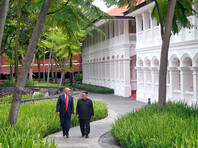 Ким Чен Ын и Дональд Трамп, Сингапур, 12 июня 2018 года
