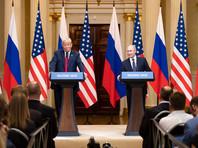 Дональд Трамп и Владимир Путин, 16 июля 2018 года