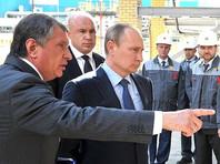 Игорь Сечин, Андрей Вотинов и Владимир Путин (слева направо) во время рабочей поездки в Туапсе