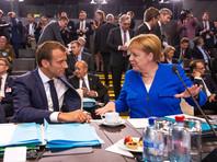 Эммануэль Макрон и Ангела Меркель на саммите НАТО, Брюссель, 11 июля 2018 года