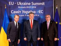 Петр Порошенко  с президентом Европейского совета Дональдом Туском и президентом Европейской комиссии Жан-Клодом Юнкером