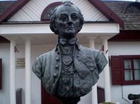 На  музее Суворова в белорусском Кобрине знаменитого   полководца  изобразили   вампиром,    рабовладельцем и палачом