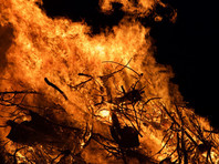 В Эстонии в зоне поисков случайно запущенной ракеты начался пожар