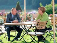 """По словам кремлевского пресс-секретаря, Путин и Меркель также """"говорили о перспективах продолжения газового транзита через территорию Украины"""""""