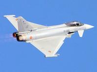 """Истребитель ВВС Испании Eurofighter Typhoon 2000, входящий в состав контингента НАТО в странах Балтии, по ошибке запустил при полете над юго-востоком Эстонии в северном направлении боевую ракету """"воздух - воздух"""" AIM-120 AMRAAM"""