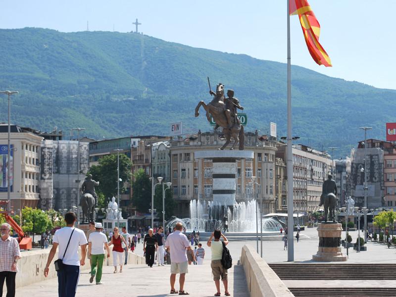 Площадь Македония в Скопье