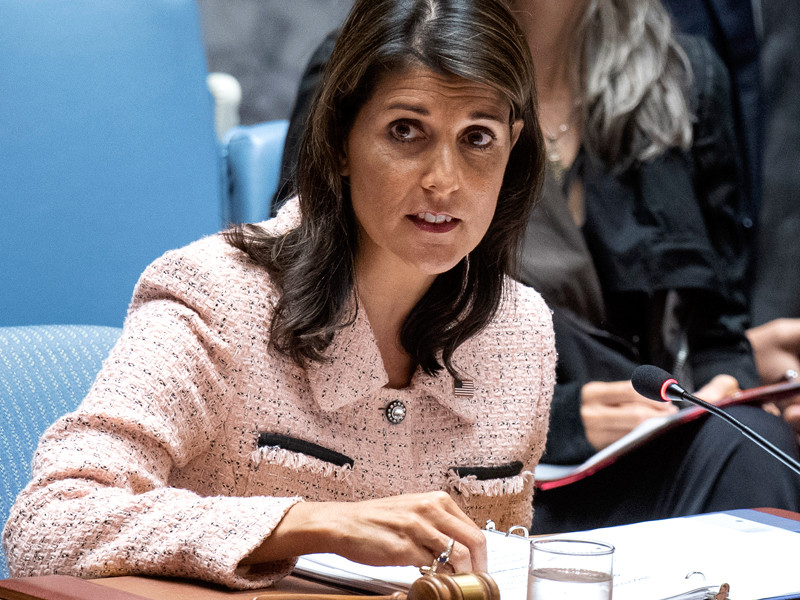 """Постпред США при ООН Никки Хейли покидает свой пост"""" />"""