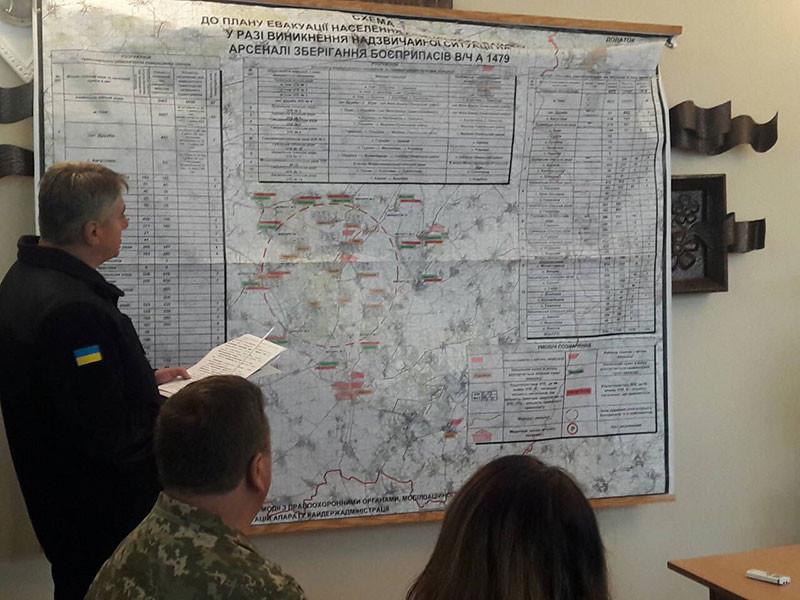 """Пожар на арсенале в Черниговской области локализован на 35%"""" />"""