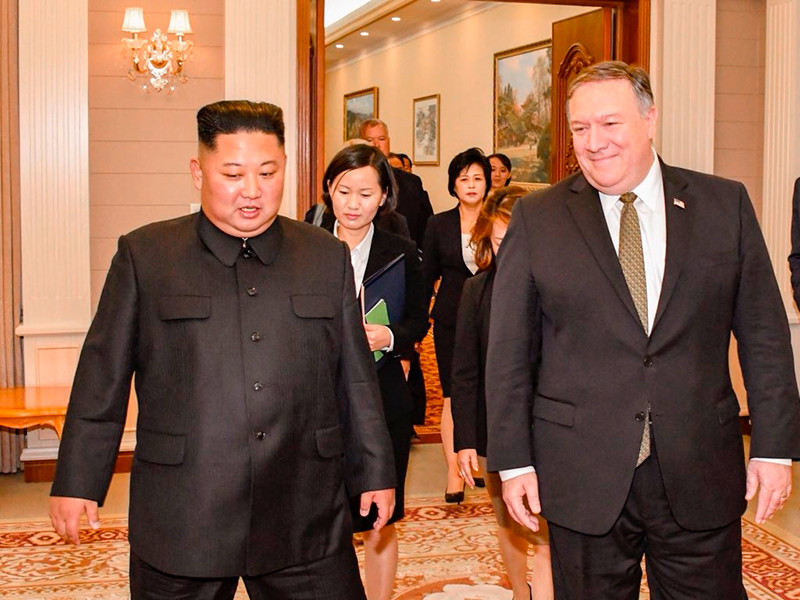 """Госсекретарь США Майк Помпео завершил свой четвертый визит в КНДР"""" />"""