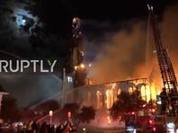 Пожар уничтожил одну из самых старых церквей в США (ФОТО, ВИДЕО)