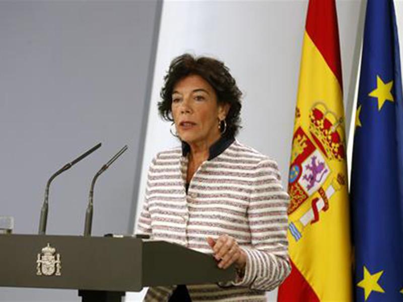 Официальный представитель правительства Испании Исабель Селаа