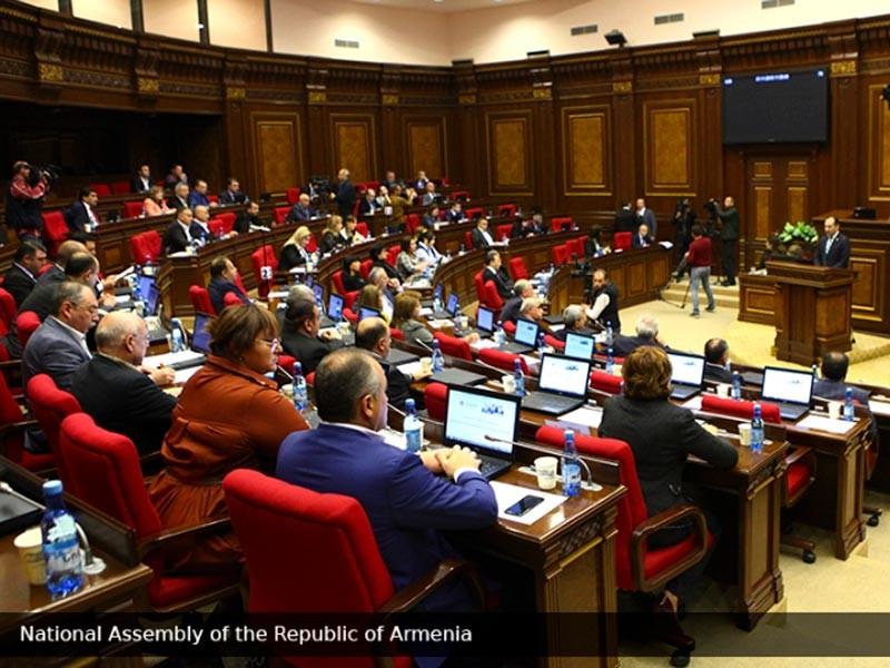 Национальное собрание Республики Армения, 1 ноября 2018 года