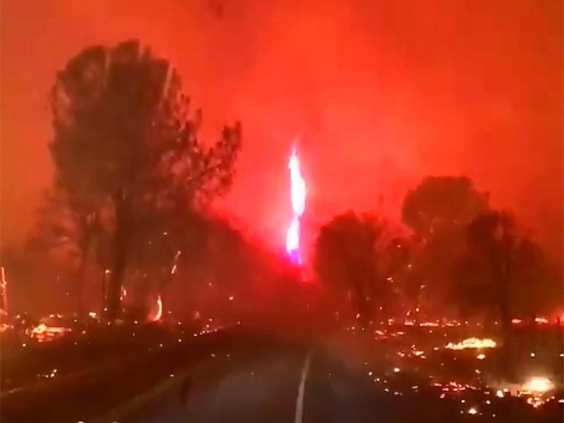 В Калифорнии эвакуированы 50 тысяч человек из-за лесных пожаров, которые разгорелись в округе Бьютт, расположенном в Центральной долине штата к северу от города Сакраменто