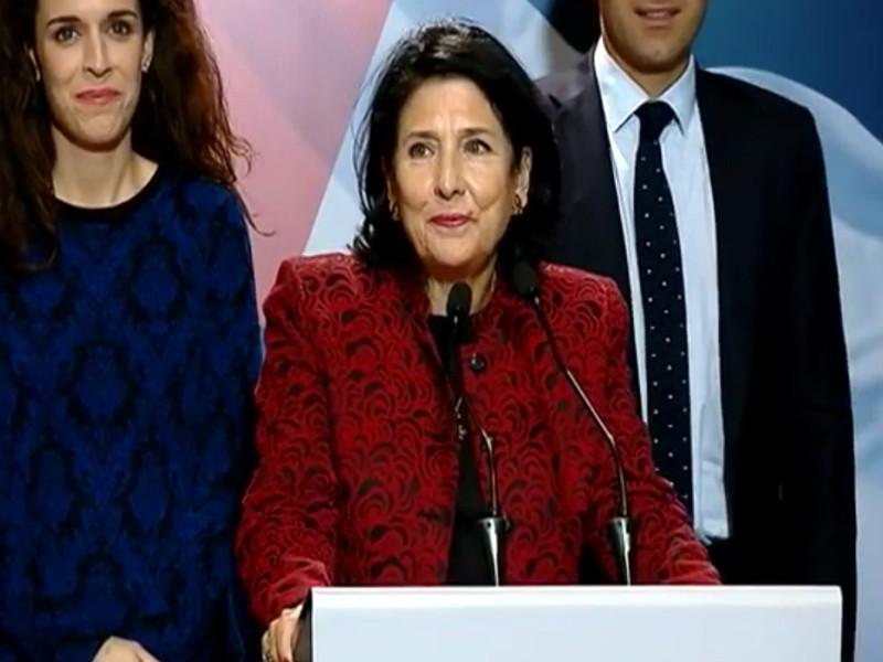 В Грузии объявили о победе Зурабишвили во втором туре президентских выборов