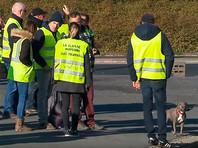 """Во Франции """"желтые жилеты"""", протестующие против налога на топливо, блокировали подъезды к топливохранилищам"""