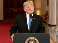 Дональд Трамп на пресс-конференции в Белом доме