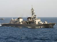 """Сторожевой корабль """"Тикума"""" японских Сил самообороны потерял часть боезапаса в районе острова Куме в Восточно-Китайском море, относящегося к южной префектуре Окинава"""