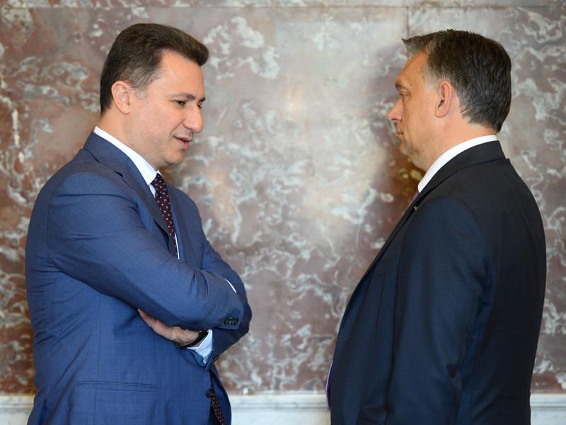 Никола Груевский и Виктор Орбан, июнь 2015 года