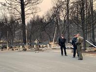 Пострадавший от пожара населенный пункт в округе Бьютт
