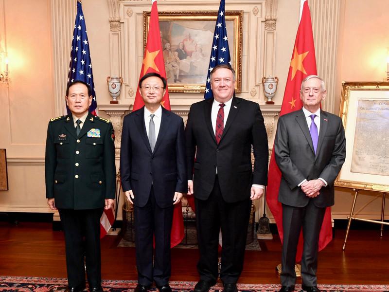 """Власти Соединенных Штатов не намерены проводить политику сдерживания эпохи холодной войны в отношении КНР. Об этом заявил в пятницу госсекретарь США Майкл Помпео по итогам встречи в формате """"два плюс два"""" с китайской стороной"""